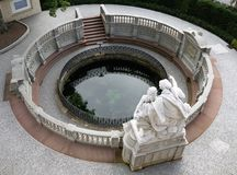 Danube fount. In donaueschingen in south germany Stock Image