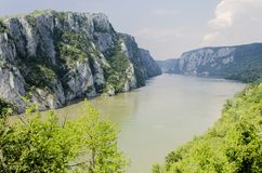 Danube gorge. Detail of the Danube river gorge Royalty Free Stock Image
