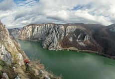 Danube Gorge - landmark attraction in Romania. Danube river Stock Image
