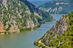 Danube Gorges Cazanele Dunarii, Romania Royalty Free Stock Photos