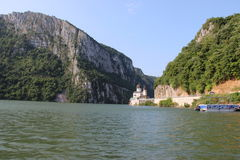 The Danube Gorges and Mraconia Monastery Royalty Free Stock Photo