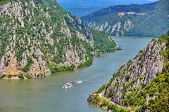 Danube Gorges, Romania stock photo