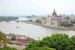 danube Hungary parlamentu rzeka fotografia royalty free