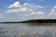 Danube x27 i island&; s Păcuiul słońce obraz royalty free
