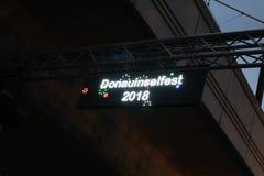 Danube-island-festival-2018. It is a big gratis outdoor summer celebration, in Vienna stock image
