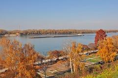 Danube krajobrazy Zdjęcia Stock