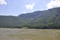 Danube landscape in Romania stock photography