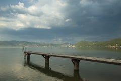 Danube molo Obraz Royalty Free