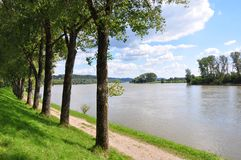 Danube near Metten, Bavaria Stock Photography