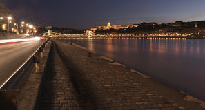 Danube at night Royalty Free Stock Image