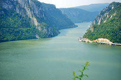 Danube. At Orsova in romania Royalty Free Stock Photography