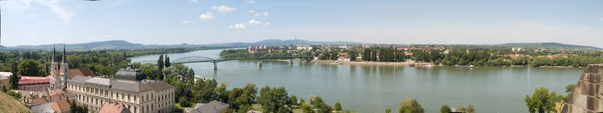 Danube overview Royalty Free Stock Image