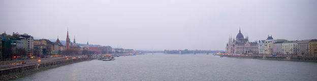 Danube panorama Royalty Free Stock Image
