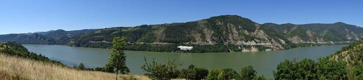 Danube - Panoramiczny widok Obrazy Royalty Free