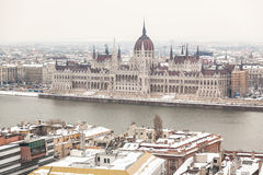 Parliament Building in Budapest Stock Images
