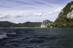 Danube pass through Iron Gates Natural Park Royalty Free Stock Photo