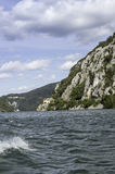 Danube pass through Iron Gates Natural Park Royalty Free Stock Images