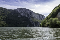 Danube pass through Iron Gates Natural Park Stock Photos
