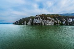 Danube pass through the Mountains royalty free stock images