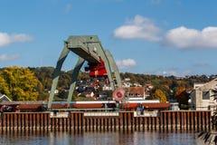 Danube port Deggendorf Zdjęcia Royalty Free