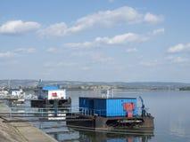 Danube port, Drobeta-Turnu Severin, Romania. Danube port in Drobeta-Turnu Severin, Romania. Drobeta-Turnu Severin is a city in MehedinÈ›i County, Oltenia stock photo
