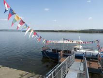 Danube port, Drobeta-Turnu Severin, Romania. Danube port in Drobeta-Turnu Severin, Romania. Drobeta-Turnu Severin is a city in Mehedinți County, Oltenia Royalty Free Stock Photography