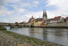 Danube in Regensburg Royalty Free Stock Image