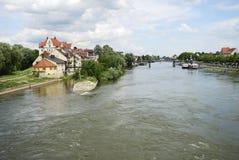 Danube in Regensburg Stock Images