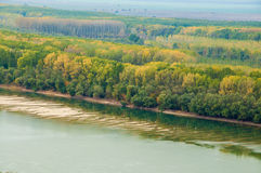 Danube river. Seight from the edge of danube river stock images