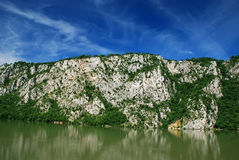 Danube river. Hills on the river Danube gorge Stock Photos