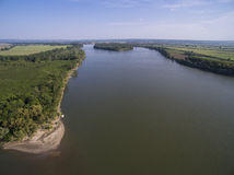 Danube River from Above Stock Photos
