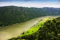Danube river. Austria. Summer on Danube river. Austria stock photo