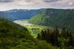 Danube river. Austria. Summer on Danube river. Austria royalty free stock photo