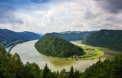 Danube river. Austria. Summer on Danube river. Austria royalty free stock images