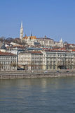 Danube River Bank in Budapest Royalty Free Stock Images