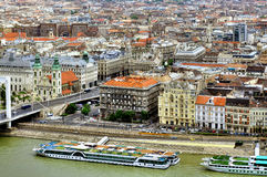 Danube river bank in Budapest Royalty Free Stock Photos