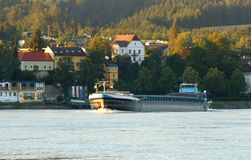 Danube River Barge Royalty Free Stock Images