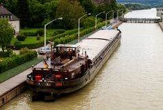 Free Danube River Barge Royalty Free Stock Images - 8364859