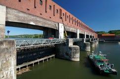 Danube River Barrage Stock Images