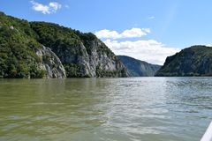 Danube river - Boilers Area. Danube river Boilers Area- Romanian side stock photography