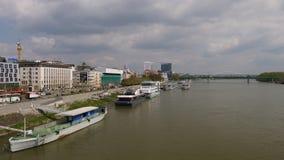 Danube River Bratislava Slovakien Royaltyfri Foto