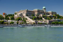 Danube River and Buda Castle, Budapest Stock Image
