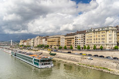 The Danube River in Budapest Stock Photography