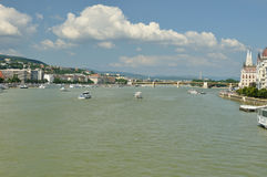 Danube river. In Budapest in my citybreak Royalty Free Stock Images