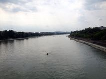 Danube river in Budapest Royalty Free Stock Photos