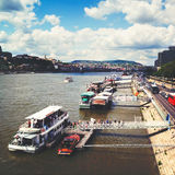 Danube river in Budapest Stock Images