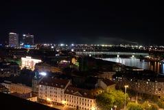 Danube River, capital Bratislava, Eslováquia foto de stock royalty free