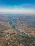Danube river crossing Budapest Royalty Free Stock Image