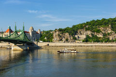 Danube river crossing Budapest Royalty Free Stock Images