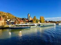 Danube River cruise in Austria royalty free stock photos